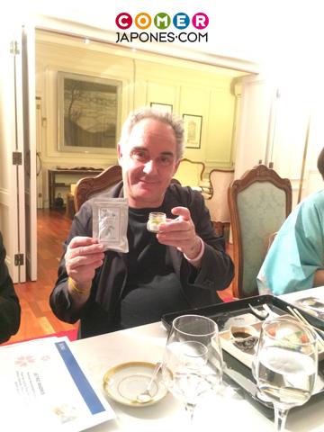 Cena japonesa con ferran adri y for Ferran adria comida