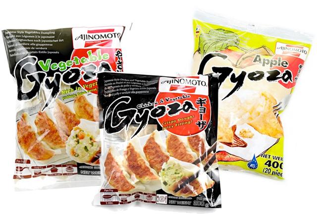 Gyozas Ajinomoto de distintos sabores