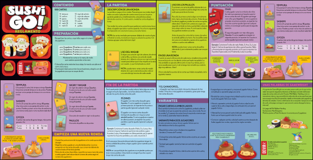 Instrucciones Sushi Go!