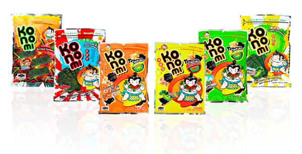 Los snacks Konomi tienen como ingrediente estrella el alga nori