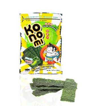 Snack Konomi de algas nori crujientes sabor wasabi