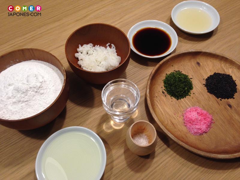 Ingredientes para hacer senbei